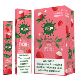 Pop Disposable Nic-Salt E-Juice 1.2ml 5% - Iced Lychee