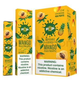 Pop Disposable Nic-Salt E-Juice 1.2ml 5%-Mango PeachPi