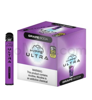 Hyppe Ultra Disposable Nic-Salt 2ml 5% - Grape Soda