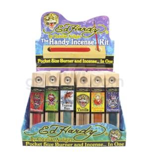 DISC Ed Hardy Handy Incense Kit 36ct/bx @