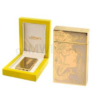 DISC  Ed Hardy Lighter Girl Face Gold