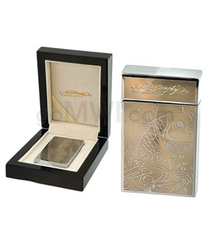 DISC Ed Hardy Lighter Coy Silver