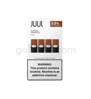 Juul Pods Cartridges 0.7ml 3% Strength 4ct -Classic Tobacco
