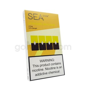 Sea Pods Nic-Salt Pods 1ml 5% 4ct - Pineapple Lemonade 8PC/BX
