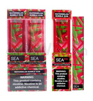 Sea Stix Nic-Salt Disposable 5% - Watermelon BubbleGum 8PC/BX
