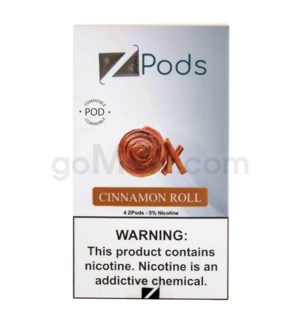ZPods (ZiiP Lab) Nic-Salt E-Juice 1ml 5% 4ct -Cinnamon Roll