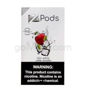 ZPods (ZiiP Lab) Nic-Salt E-Juice 1ml 5% Str 4ct -Iced Apple