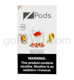 ZPods (ZiiP Lab) Nic-Salt E-Juice 1ml 5% 4ct -Iced Multipack