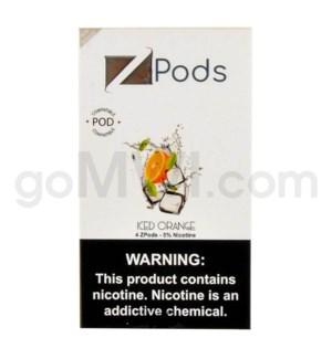 ZPods (ZiiP Lab) Nic-Salt E-Juice 1ml 5% 4ct -Iced Orange
