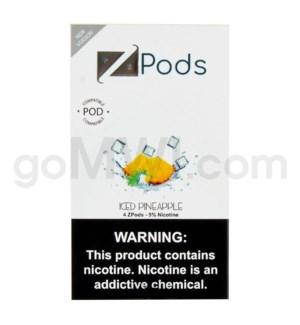 ZPods (ZiiP Lab) Nic-Salt E-Juice 1ml 5% 4ct -Iced Pineapple