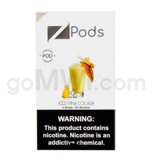 ZPods (ZiiP Lab) Nic-Salt E-Juice 1ml 5% 4ct- Ice Pina Colad