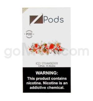 ZPods (ZiiP Lab) Nic-Salt E-Juice 1ml 5% 4ct -Iced Strawberr