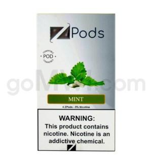 ZPods (ZiiP Lab) Nic-Salt E-Juice 1ml 5% 4ct -Mint