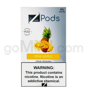 ZPods (ZiiP Lab) Nic-Salt E-Juice 1ml 5% Str 4ct -Pineapple