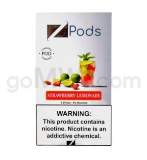 ZPods (ZiiP Lab) Nic-Salt Juice 1ml 5% 4ct -Strawberry Lemona