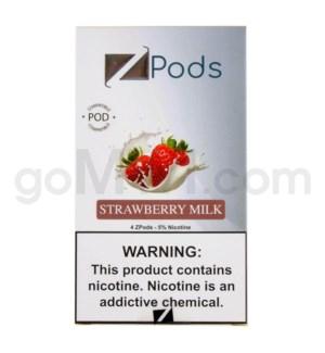 ZPods (ZiiP Lab) Nic-Salt E-Juice 1ml 5% 4ct -Strawberry Mil