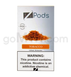 ZPods (ZiiP Lab) Nic-Salt E-Juice 1ml 5% 4ct -Tobacco