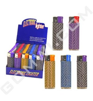 DISC Lighter Electronic Glitter 2 50CT/BX