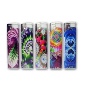 DISC Lighter Electronic pyschedelic 50CT/BX 20/CS