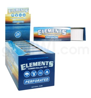 Elements Gummed Rolling Tips 33pk 24ct/bx 30bx/cs