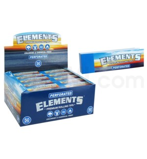 Elements Perforated Roll up Tips 50/pk 50ct/bx 20/cs
