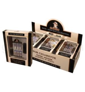 Sanda Cigarette Holder Wooden 6 Filter 12PC/BX