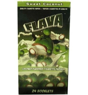 DISC Flava Papers 1.25 Paper 24CT/BX Coconut