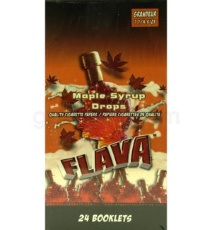 DISC Flava Papers 1.25 24CT/BX Maple Syrup