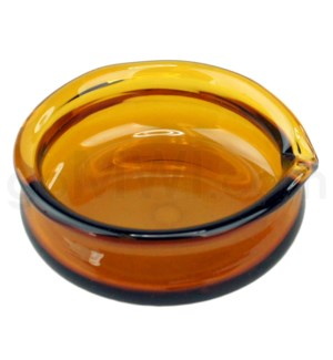 DISC Glass Receptacle Oil Dish-Amber