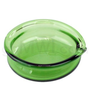 DISC Glass Receptacle Oil Dish-Green