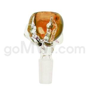 DISC 14mm GOG Dragon Claw Bowl Amber