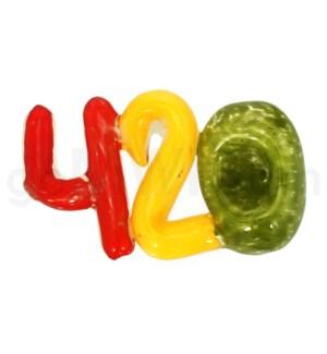 """I/O 4"""" 420 Frit Spoon - Rasta Colors"""