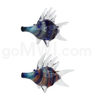 "I/O 4"" Latticino Crazy Fish  Assorted Colors"