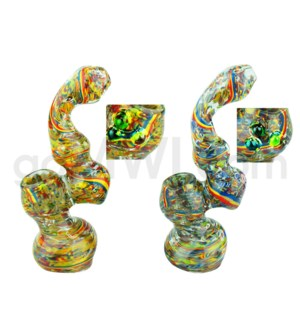 "I/O 7"" Tusting Frit Bubbler Assorted Color Art"