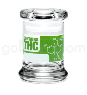DISC Glass Jar 420 Pop-Top 1/8oz-THC