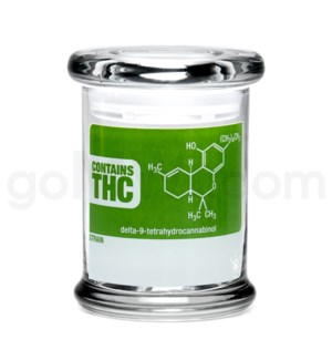 DISC Glass Jar 420 Pop-Top 1/2oz-THC