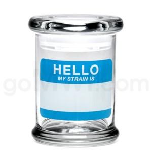 Glass Jar 420 Pop-Top 1/2oz-Hello My Strain
