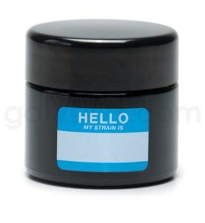 Glass Jar 420 UV Screw Top 1/8oz-Hello Write & Erase