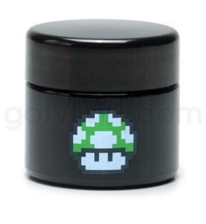 DISC Glass Jar 420 UV Screw Top 1/8oz-1-Up Mushroom