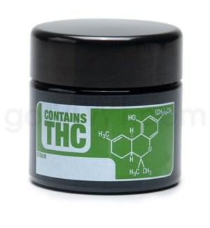 DISC Glass Jar 420 UV Screw Top 1/4oz-THC Write & Erase