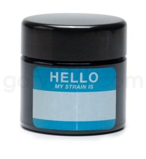 Glass Jar 420 UV Screw Top 1/4oz-Hello Write & Erase