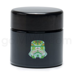 DISC Glass Jar 420 UV Screw Top 1/4oz-Sugar Trooper