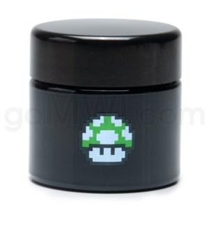 DISC Glass Jar 420 UV Screw Top 1/4oz-1-Up Mushroom