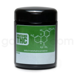 DISC Glass Jar 420 UV Screw Top 1/2oz-THC Write & Erase