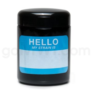Glass Jar 420 UV Screw Top 1/2oz-Hello Write & Erase
