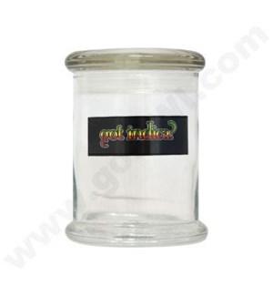 DISC Glass Cali Jar Grande Got Indica? 1/2 oz.