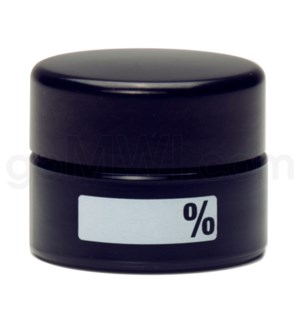 DISC Glass Jar 420 UV Concentrate 10ml-% Label