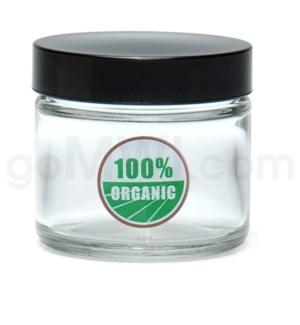DISC Glass Jar 420 Screw Top 1/8oz-100% Organic