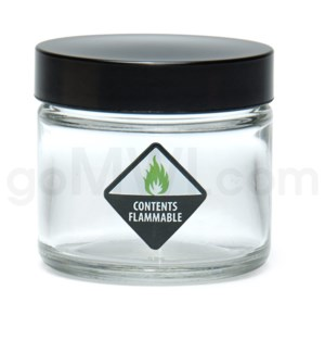 DISC Glass Jar 420 Screw Top 1/8oz-Contents Flammable