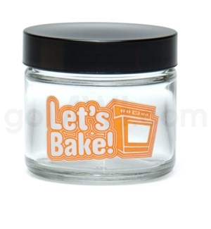 DISC Glass Jar 420 Screw Top 1/8oz-Let's Bake